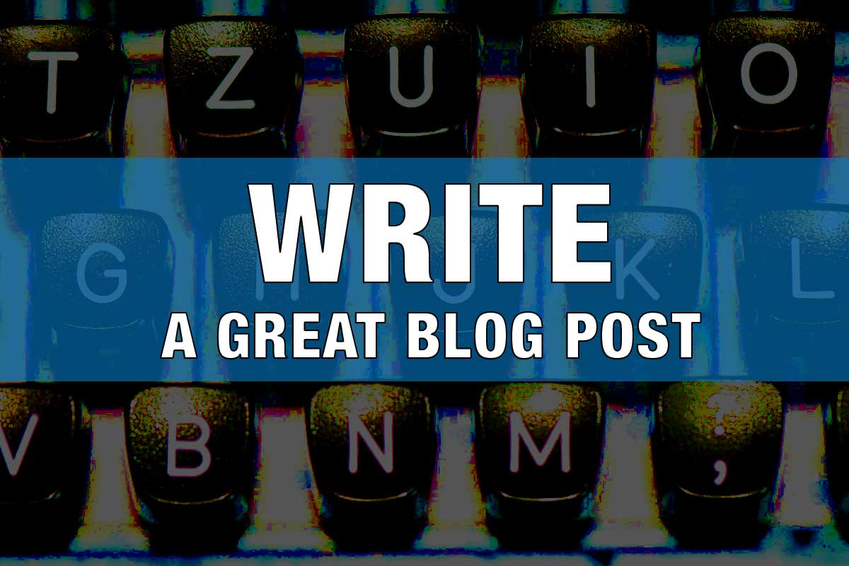 type writer - Write a blog post now