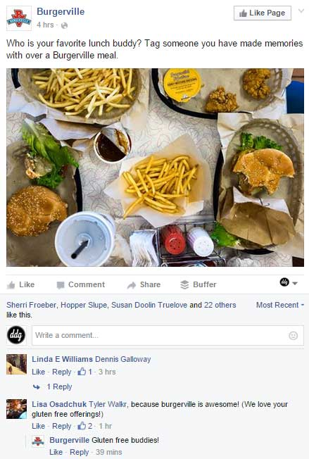 FB Page Burgerville Post