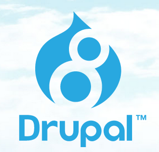 Drupal 8 new Logo with clouds