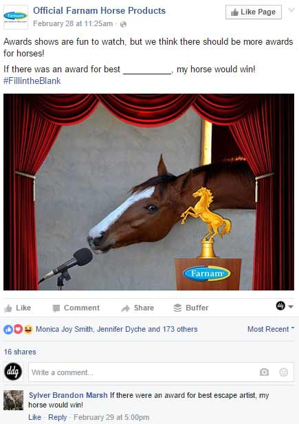 Farnam Horse Facebook Page Post