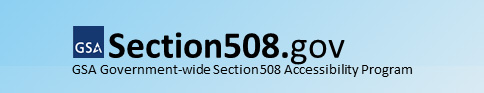 Section 508 of the Rehabilitation Act of 1973, website logo