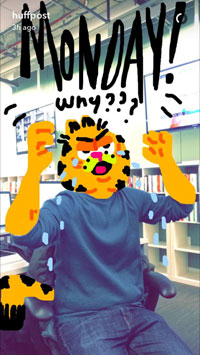 Snapchat Huffpost, My Story Drawing, Garfield