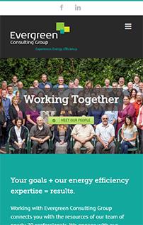 Evergreen Efficiency WordPress website mobile screenshot