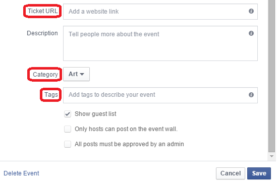 Creating Facebook Event as Page Host