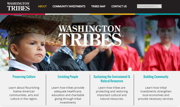 Highly Functional Website, Easy-to-Navigate, WA Tribes