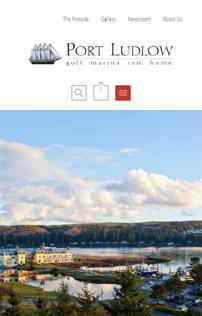 WordPress site project, Mobile Port Ludlow Resort