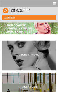 Mobile Aveda Institute, responsive Drupal project, Portland OR