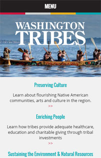 Washington Tribes, web design & development, Portland, Oregon