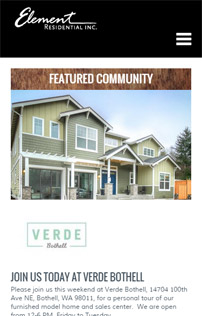 Element Residential, Drupal web design in Portland, Oregon