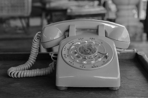 Old Landline Phone, for Directories & Listings