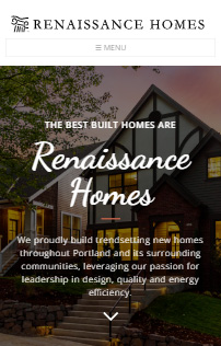Renaissance Homes  Drupal Website Phone - Mobile Responsive  Screen Shot