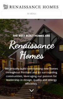 Renaissance Homes  Drupal Website Phone - Mobile Responsive  Screen Shot