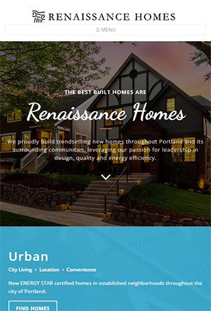 Renaissance Homes  Drupal Website Tablet Screen Shot
