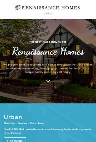Renaissance Homes  Drupal Website Tablet Screen Shot