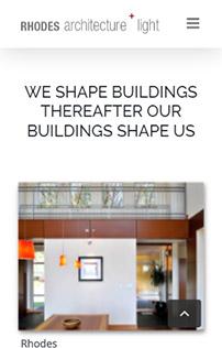 Rhodes Architecture + Light WordPress site