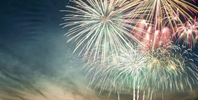Evergreen consulting background image of fireworks