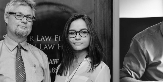 Black and white image of lawyer and administrator.