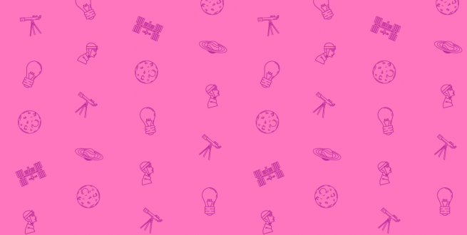 pattern of science icons