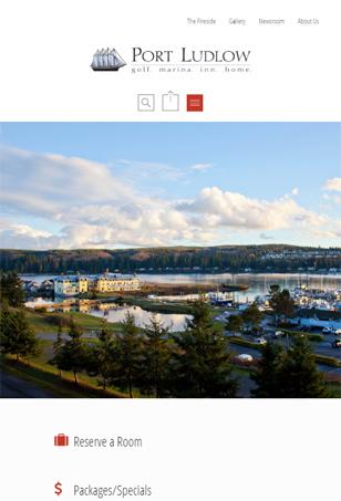 Responsive WordPress website project, Tablet Port Ludlow Resort